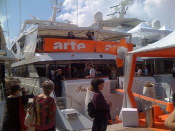 Mathieu Amalric on Arte boat